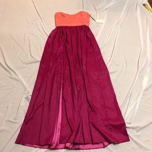 Gorgeous salmon pink ASOS maxi dress NWT